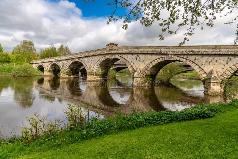 Atcham, Shropshire, Inghilterra, Regno Unito immagini stock libere da diritti