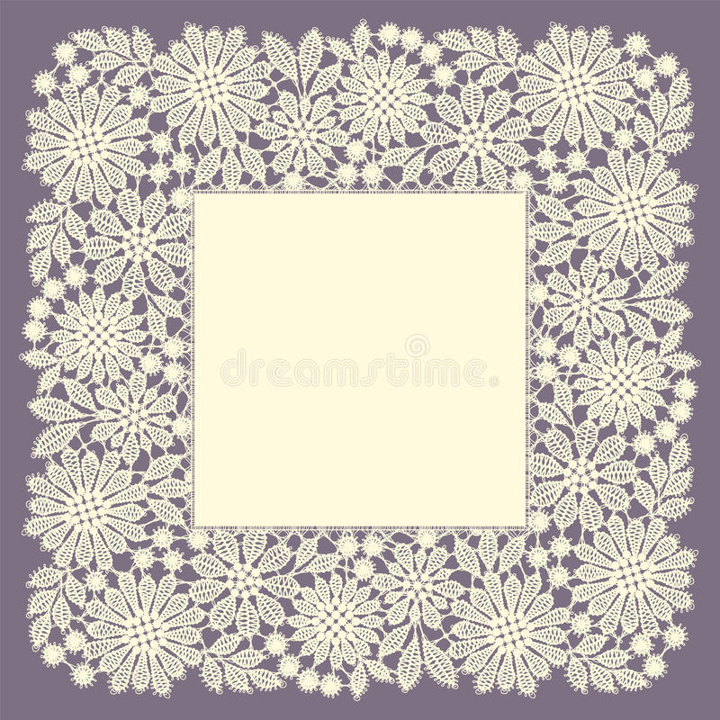 Ate o frame doily ilustração stock