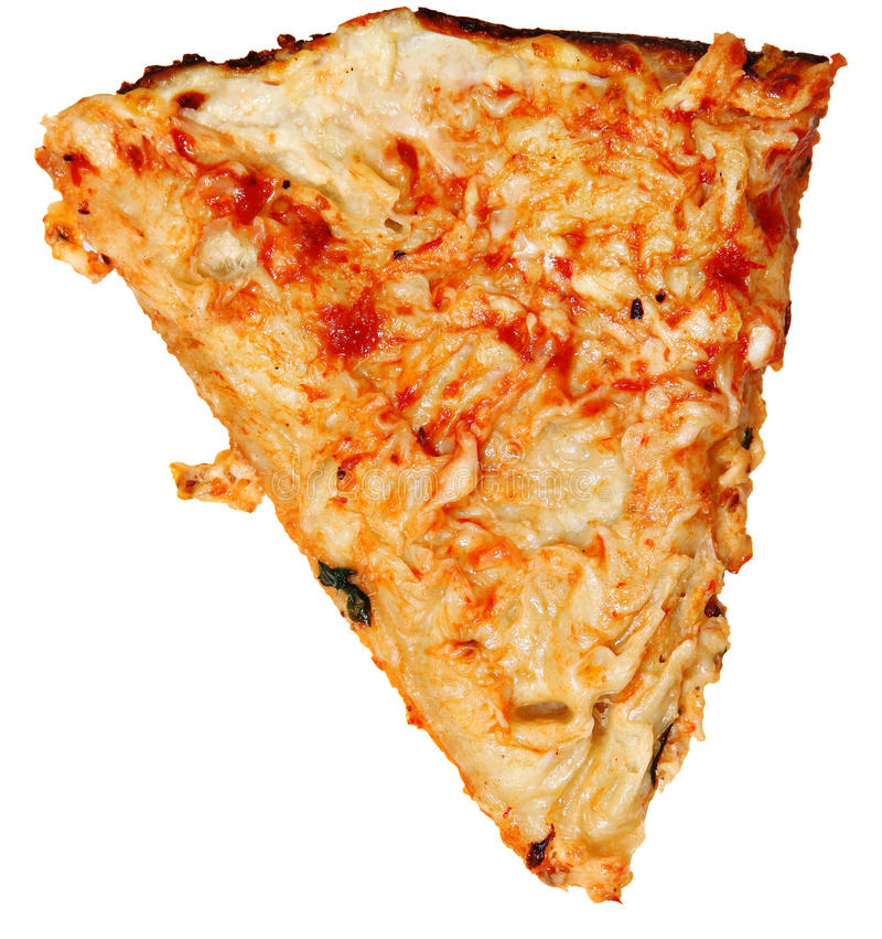 Ate Topping Only, Scraped Pizza Crust Over White. Pizza Crust with Toppings scraped off... gluten allergies or low carb diets royalty free stock image