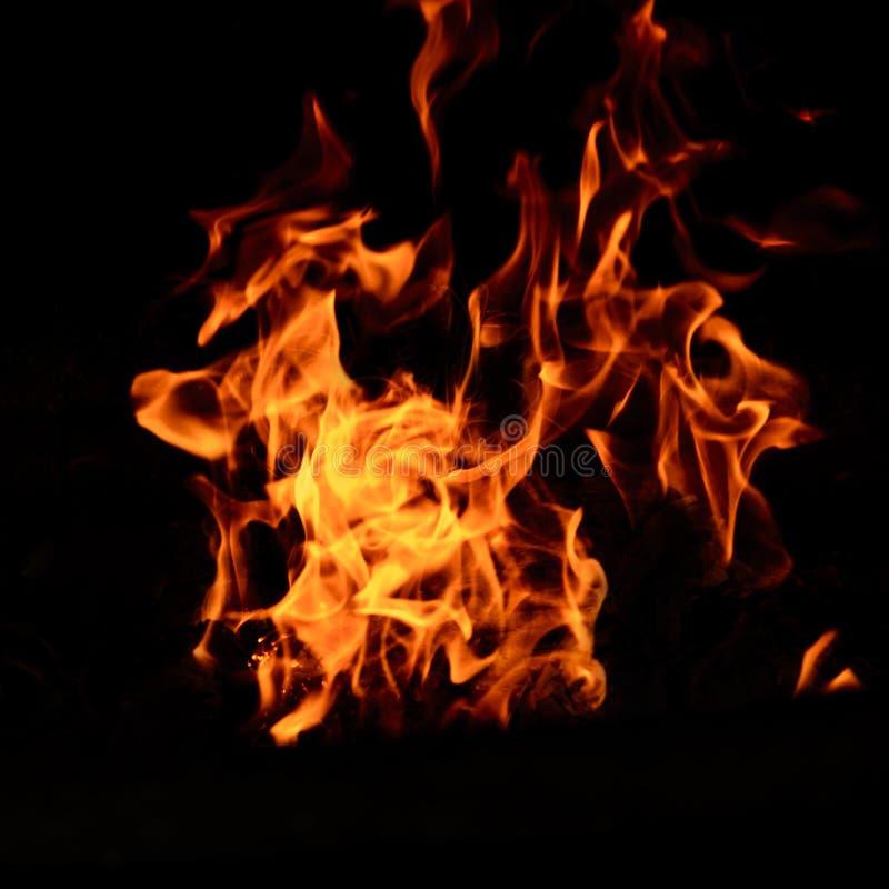 Ateie fogo à chama isolada no fundo isolado preto - yel bonito foto de stock