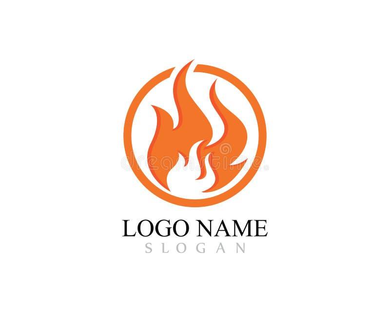 Ateie fogo ao ?leo do ?cone do vetor de Logo Template da chama, ao g?s e ao logotipo da energia ilustração do vetor