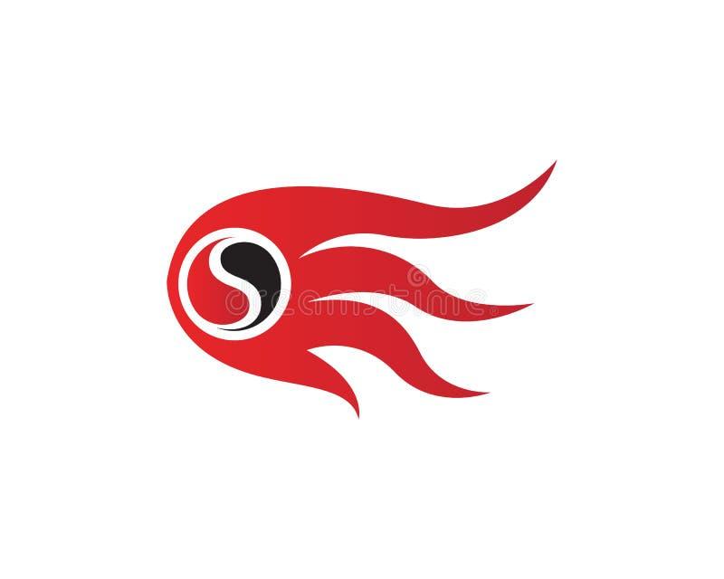 Ateie fogo ao logotipo do logotipo e a ícones quentes do molde dos símbolos ilustração do vetor
