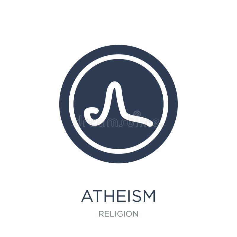 ateizm ikona Modna płaska wektorowa ateizm ikona na białym backgroun ilustracja wektor