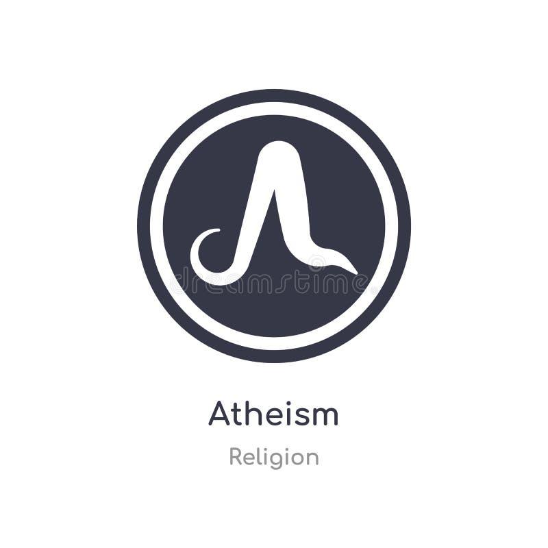 ateizm ikona odosobnionej ateizm ikony wektorowa ilustracja od religii kolekcji editable ?piewa symbol mo?e by? u?ywa dla strony  ilustracja wektor