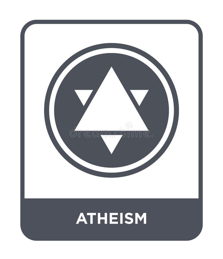 ateizm ikona w modnym projekta stylu ateizm ikona odizolowywająca na białym tle ateizm wektorowej ikony prosty i nowożytny płaski royalty ilustracja