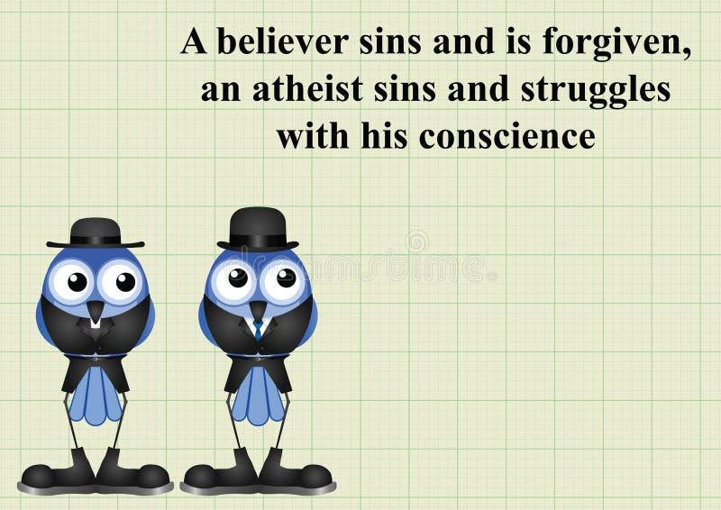 Ateizmu mówić ilustracja wektor