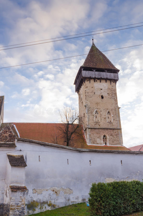 Atel fortificou a igreja imagens de stock royalty free