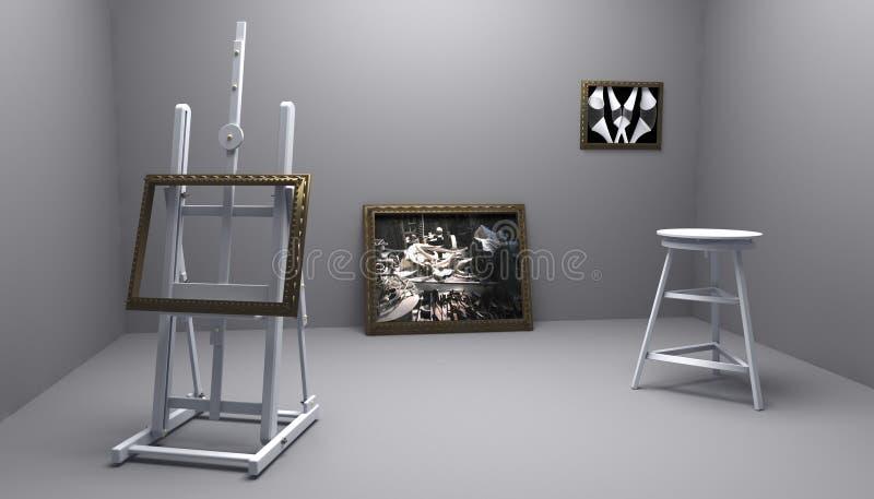 Atelier com retrato dois ilustração do vetor