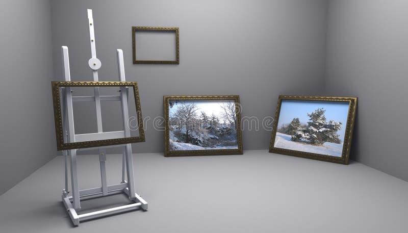 Atelier com retratos do inverno ilustração royalty free