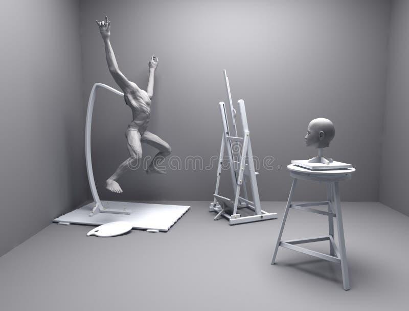Atelier da arte ilustração do vetor