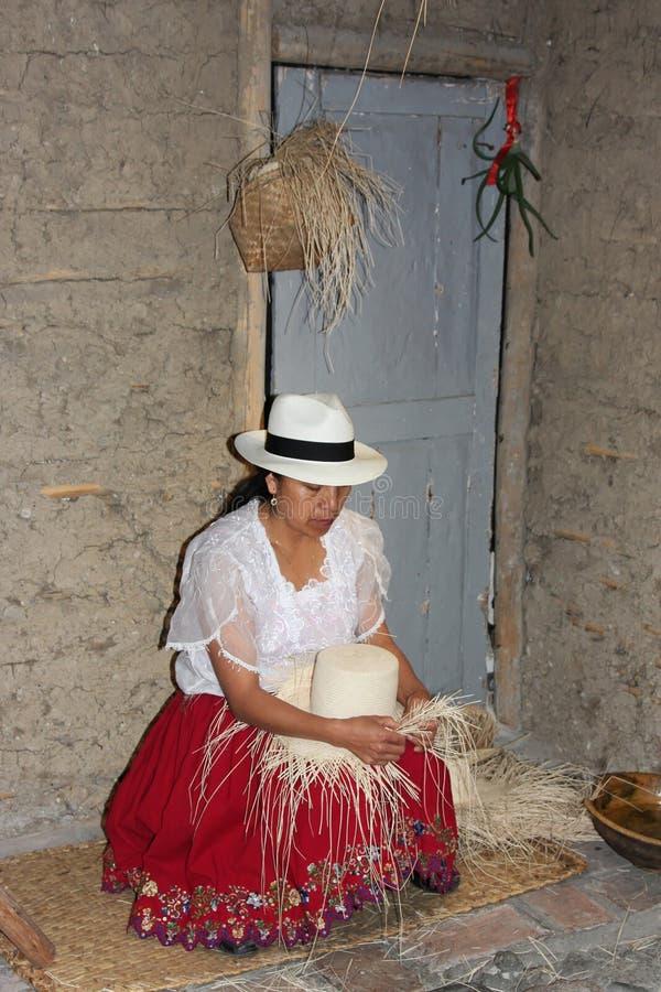 Atelier de chapeau de Panama photographie stock libre de droits