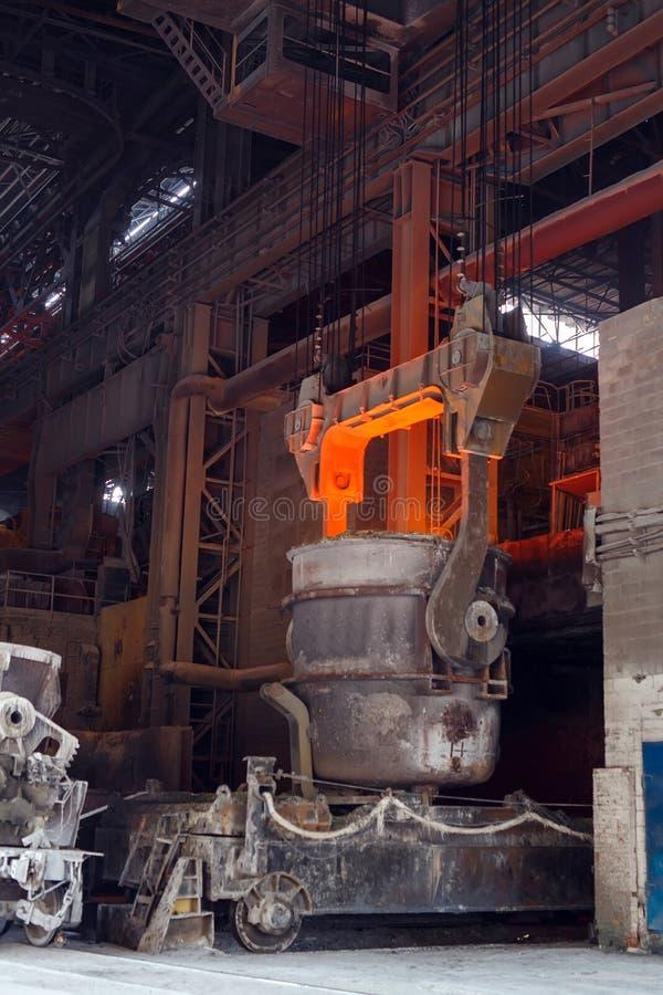 Atelier de four Thomas de l'usine métallurgique photo stock