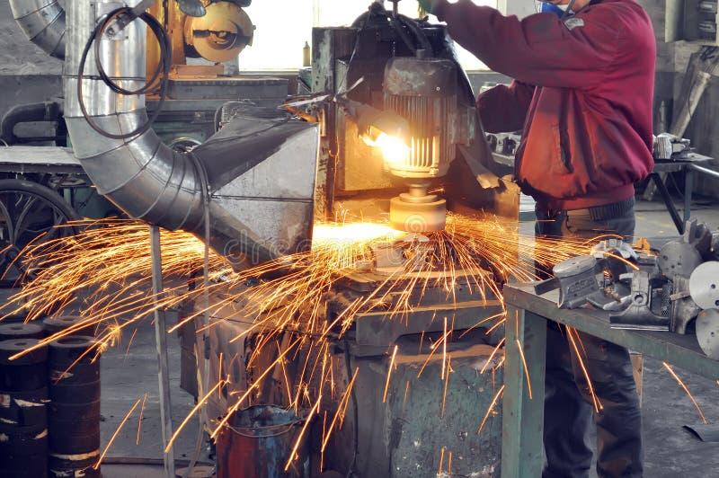 Atelier de polissage d'usine image stock