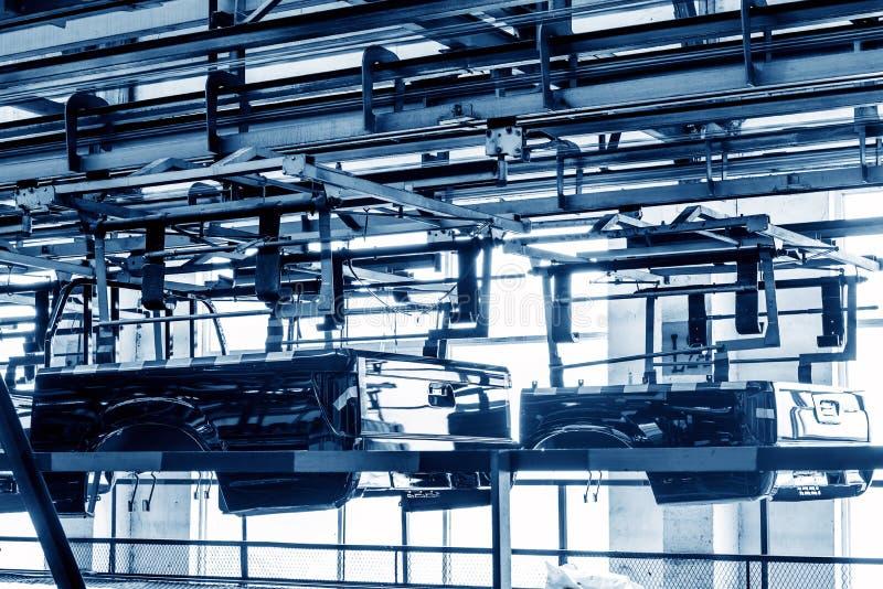 Atelier de production de camion pick-up photos libres de droits