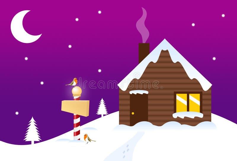 atelier de s Santa illustration de vecteur
