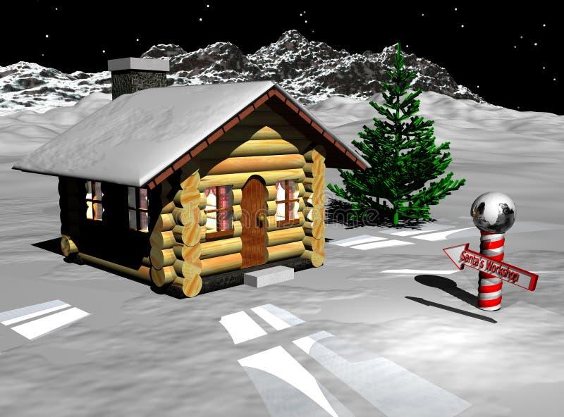 Atelier de Santa illustration libre de droits