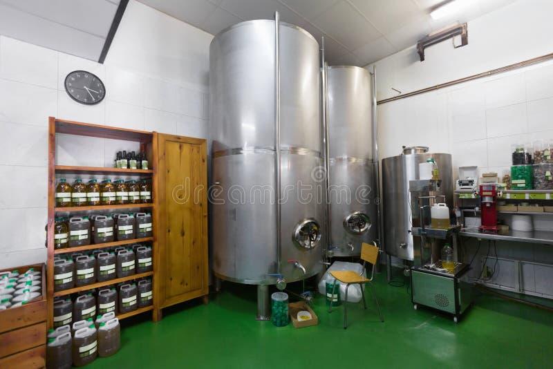 Atelier de section de produits pétroliers d'extrémité photographie stock