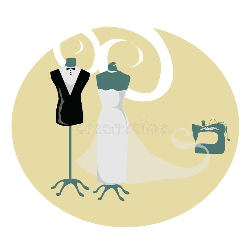 Atelier do casamento ilustração stock