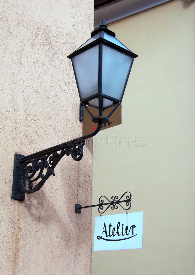 Download Atelier and lamp stock image. Image of detail, metallic - 1914537