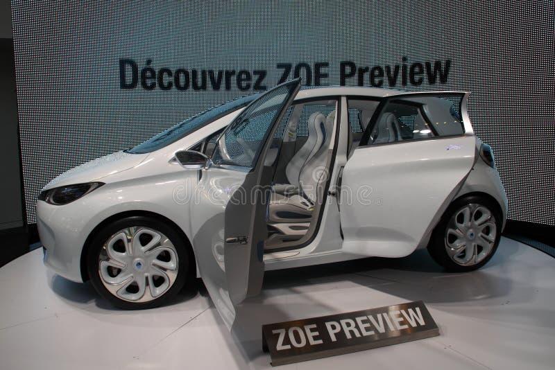 Atelier Renault Z.O.E. Photo stock éditorial