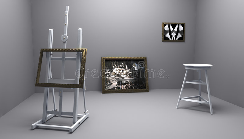 Atelier With Two Picture Stock Images