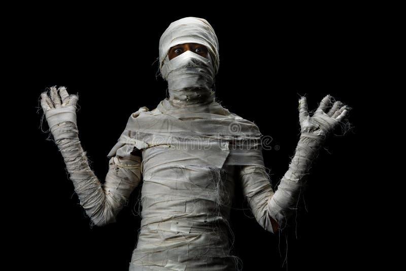 Atelieraufnahmeporträt des jungen Mannes im Kostüm gekleidet als Halle stockfotografie