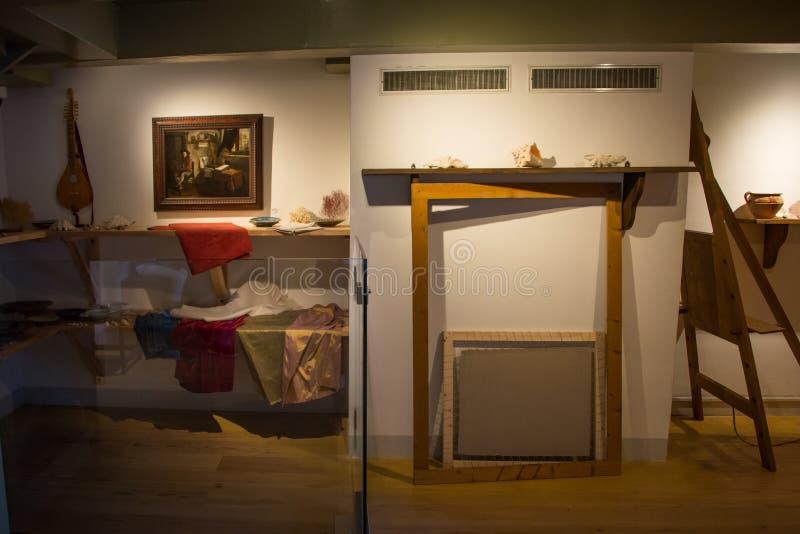 Atelieren i det Rembrandt museet royaltyfri fotografi