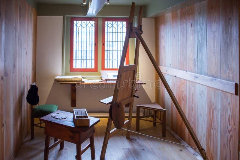Atelieren i det Rembrandt museet royaltyfria foton