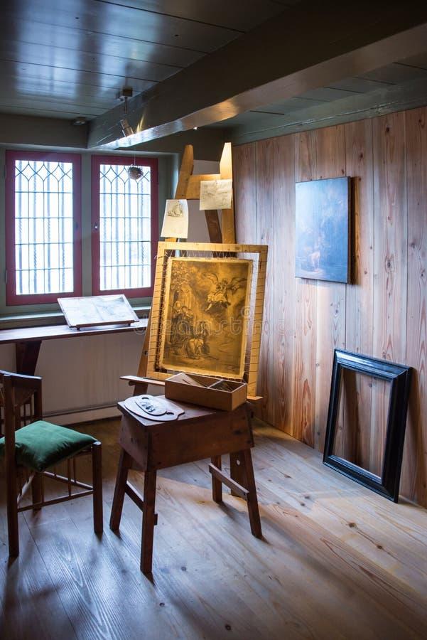 Atelieren i det Rembrandt museet arkivbilder