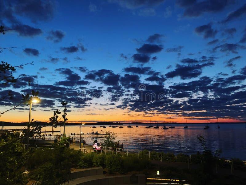 Atemberaubende Sonnenuntergangsachen, die Sie in Madison tun müssen, Wisconsin stockfotos