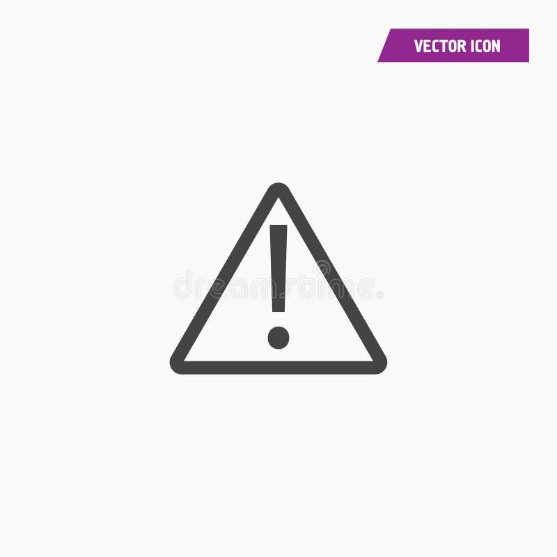 Atenção do tráfego, ícone do cuidado ilustração do vetor