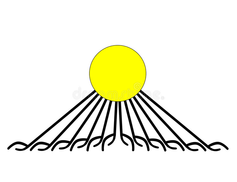 aten gudkonungen stock illustrationer
