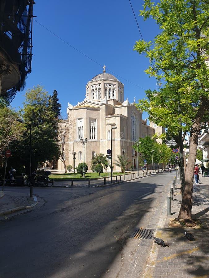 Aten kyrktar royaltyfri bild
