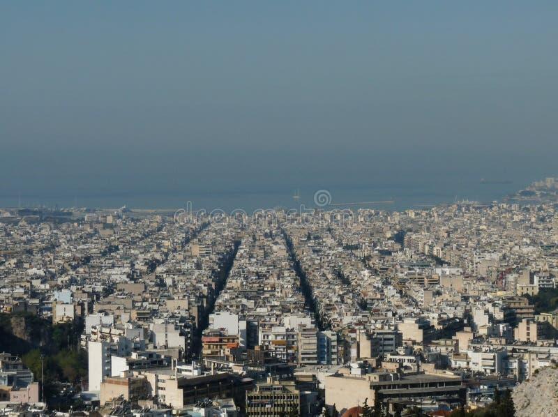 Aten och Piraeus, Grekland royaltyfria foton