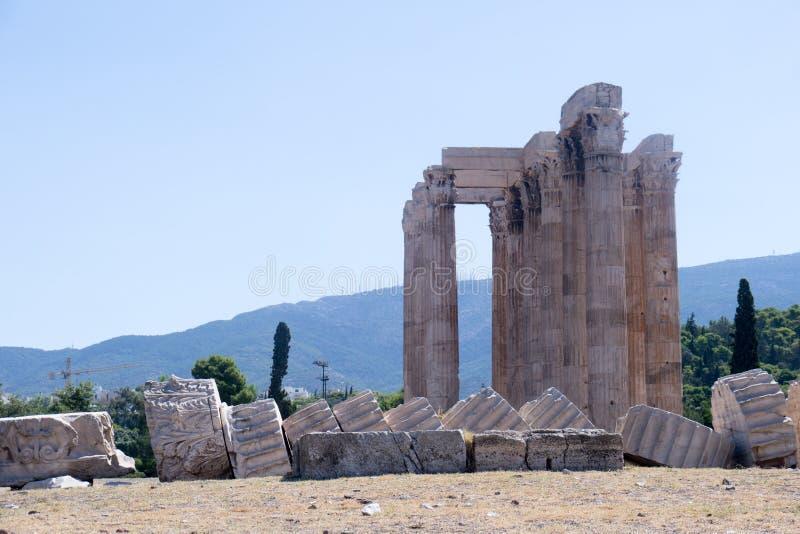 Aten - tempel av Zeus royaltyfri foto