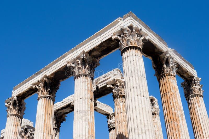 Aten - tempel av Zeus royaltyfria bilder