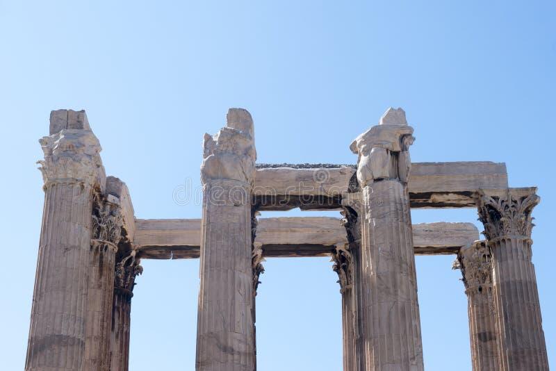 Aten tempel av Zeus royaltyfri foto