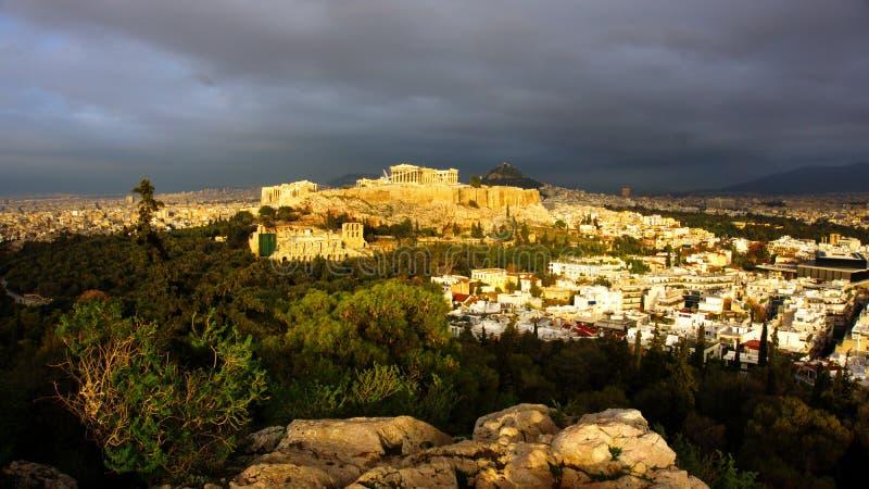 Atena Grecia Acropolis royalty free stock photos