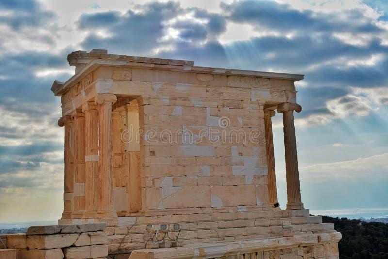 atena nike świątyni zdjęcie royalty free