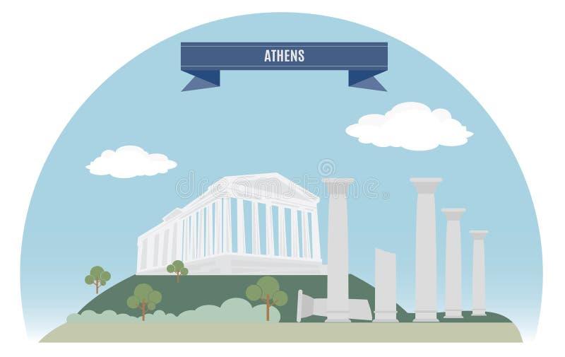 Atenas ilustração royalty free
