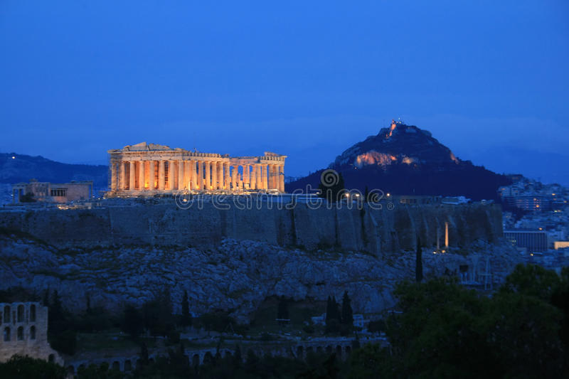 Atenas, Acropolis, Greece imagens de stock