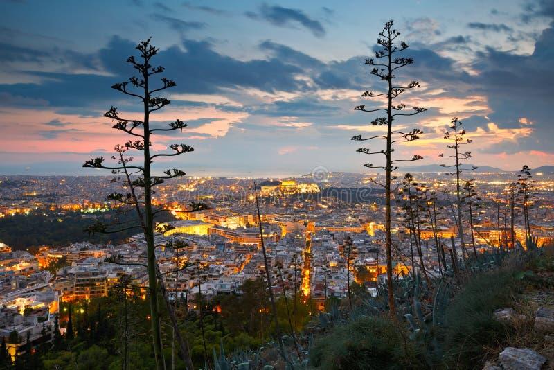 Atenas do monte de Lycabettus imagens de stock