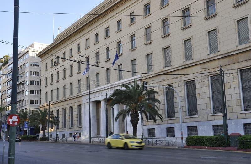 Atenas, el 27 de agosto: Edificio histórico de Atenas la capital de Grecia foto de archivo
