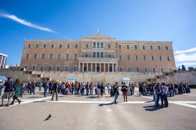 11 03 2018 Atenas, Grécia - a mansão presidencial, o offici fotografia de stock royalty free