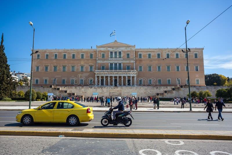 11 03 2018 Atenas, Grécia - a mansão presidencial, o offici foto de stock