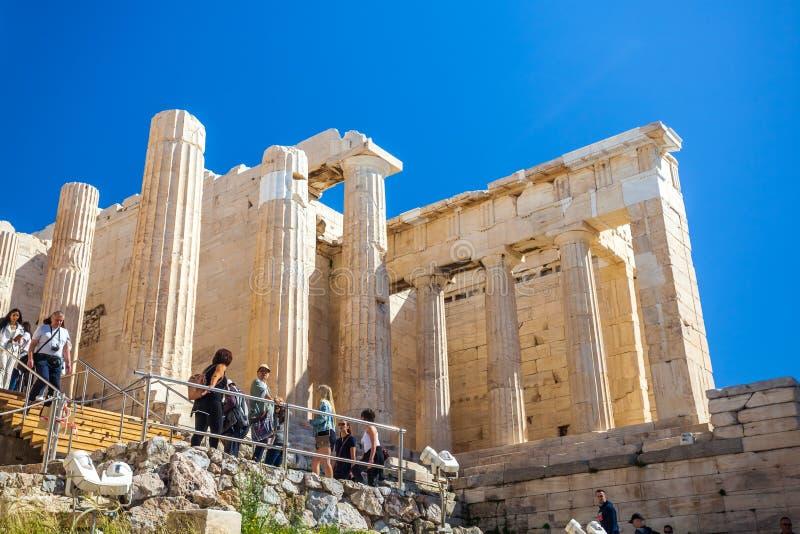 11 03 2018 Atenas, Grécia - templo do Partenon em um dia ensolarado Acr imagens de stock royalty free
