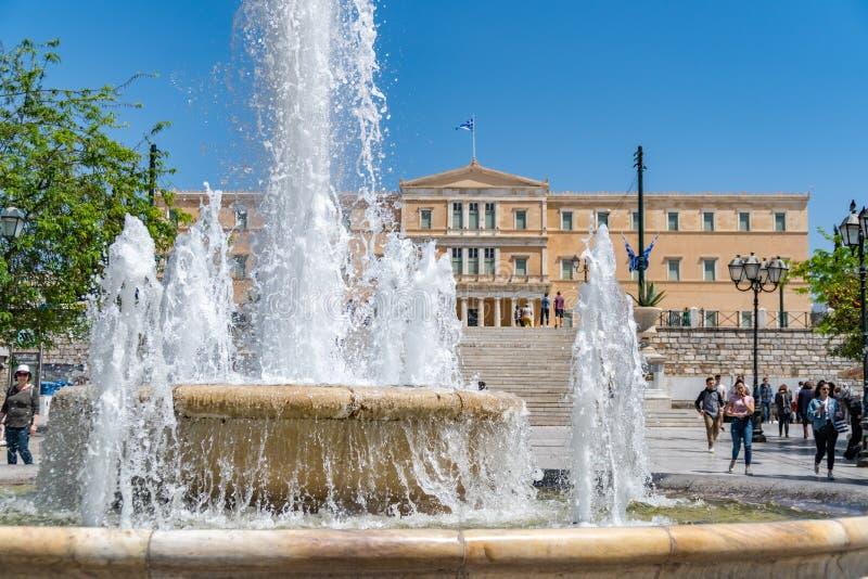 Atenas, Gr?cia - 27 04 2019: Resid?ncia oficial do presidente do Hellenic Republic fotografia de stock royalty free