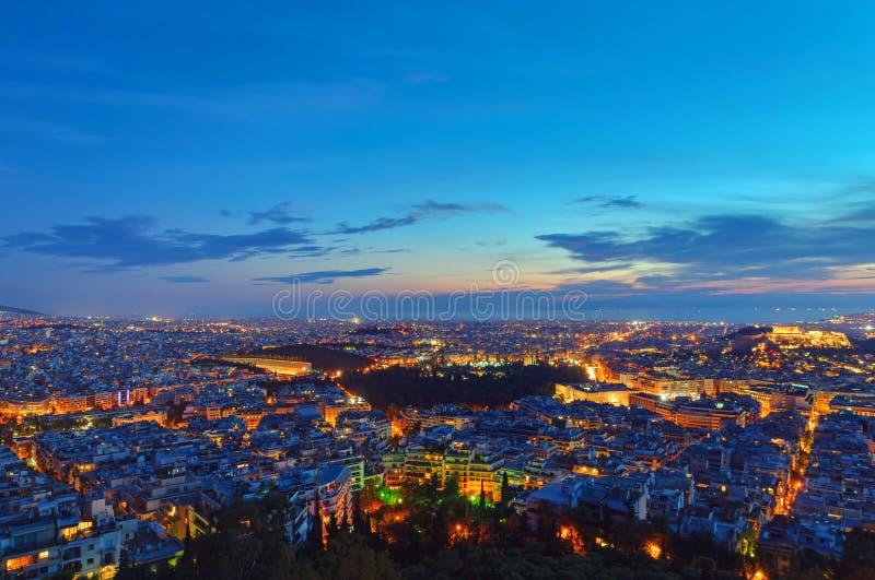 Atenas no alvorecer imagens de stock royalty free