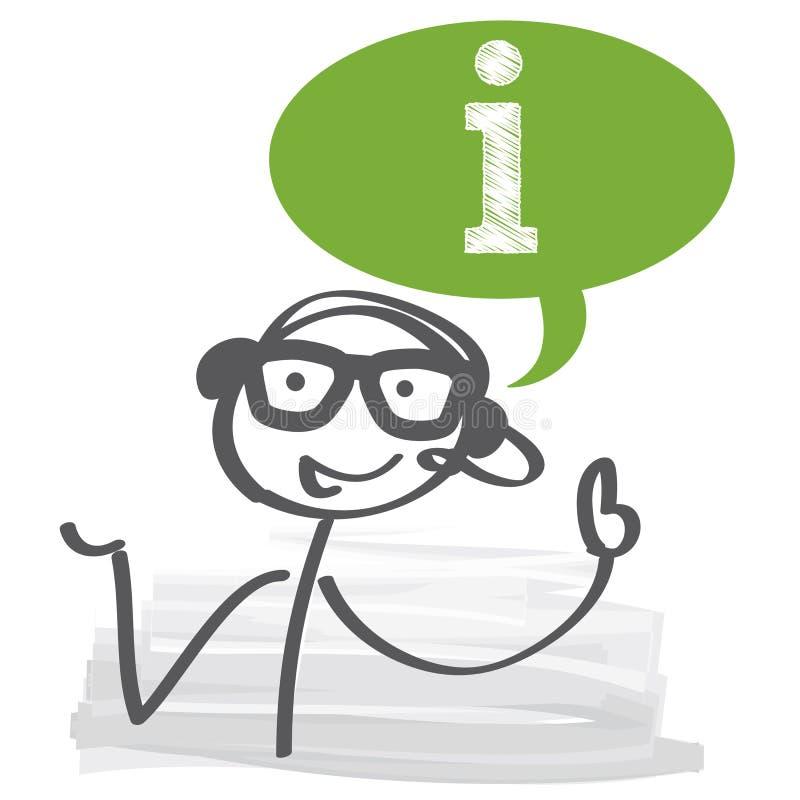 Atención al cliente stock de ilustración