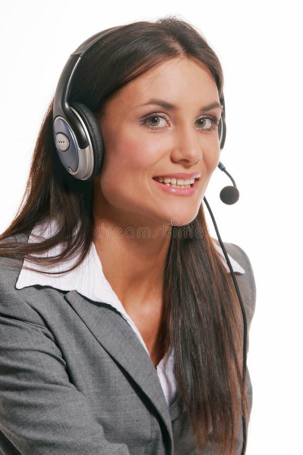 Atención al cliente en el fondo blanco imagen de archivo